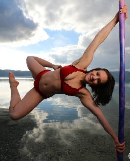 Poledance-Shooting direkt am Bodenseeufer